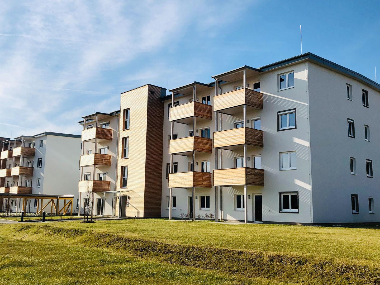 all-in99 Projekt Klagenfurt 2 Wohngebaeude in Tagesansicht