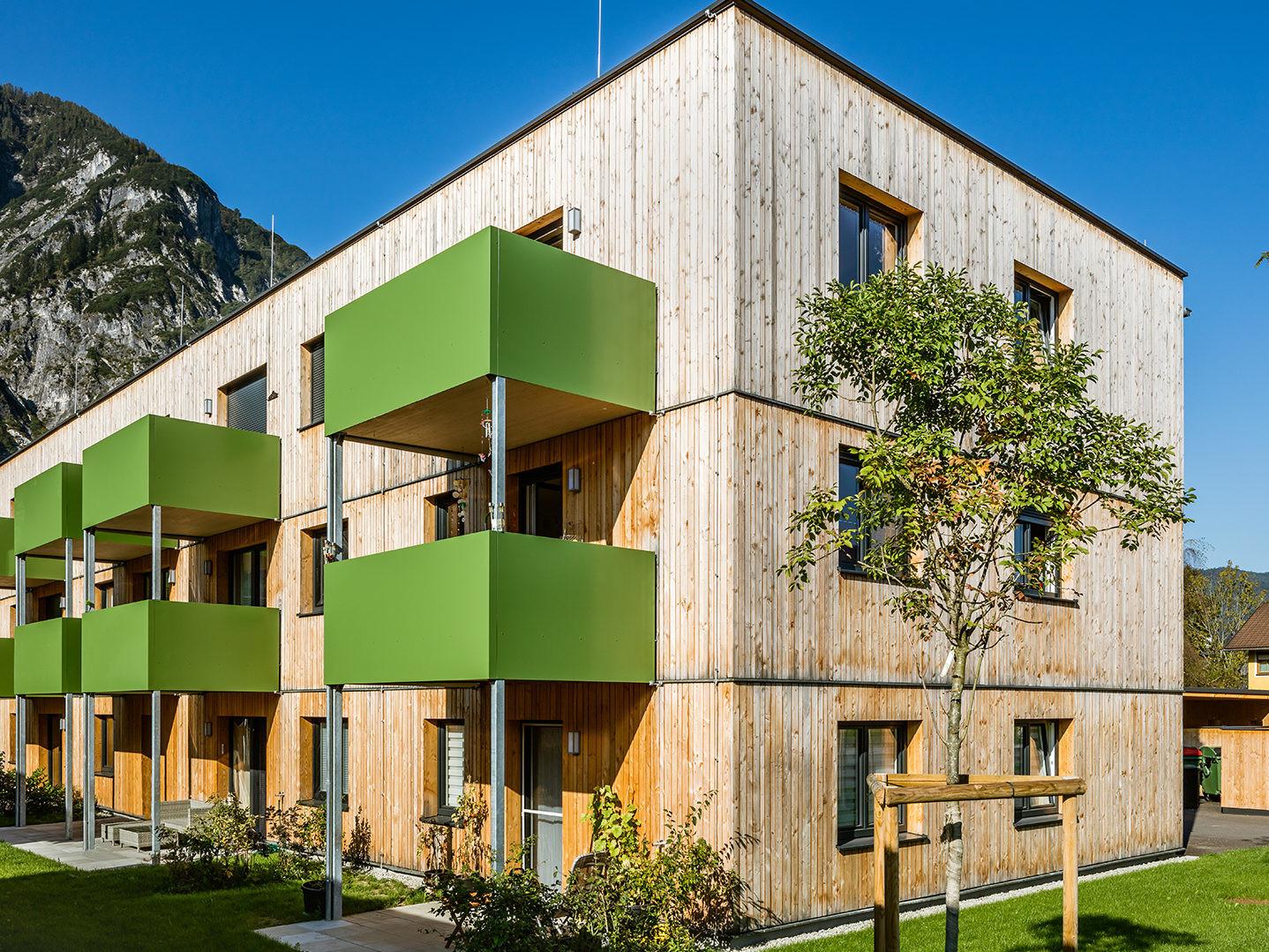 all-in99 Projekt Bad Goisern Wohngebäude in Tagesansicht