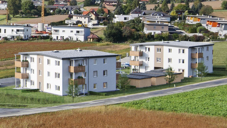 all-in99 Projekt Hartberg 2 Wohngebauede in Tagesansicht