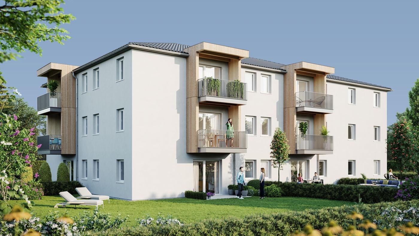 all-in99 Projekt Paudorf bei Goettweig Wohngebaeude in Tagesansicht
