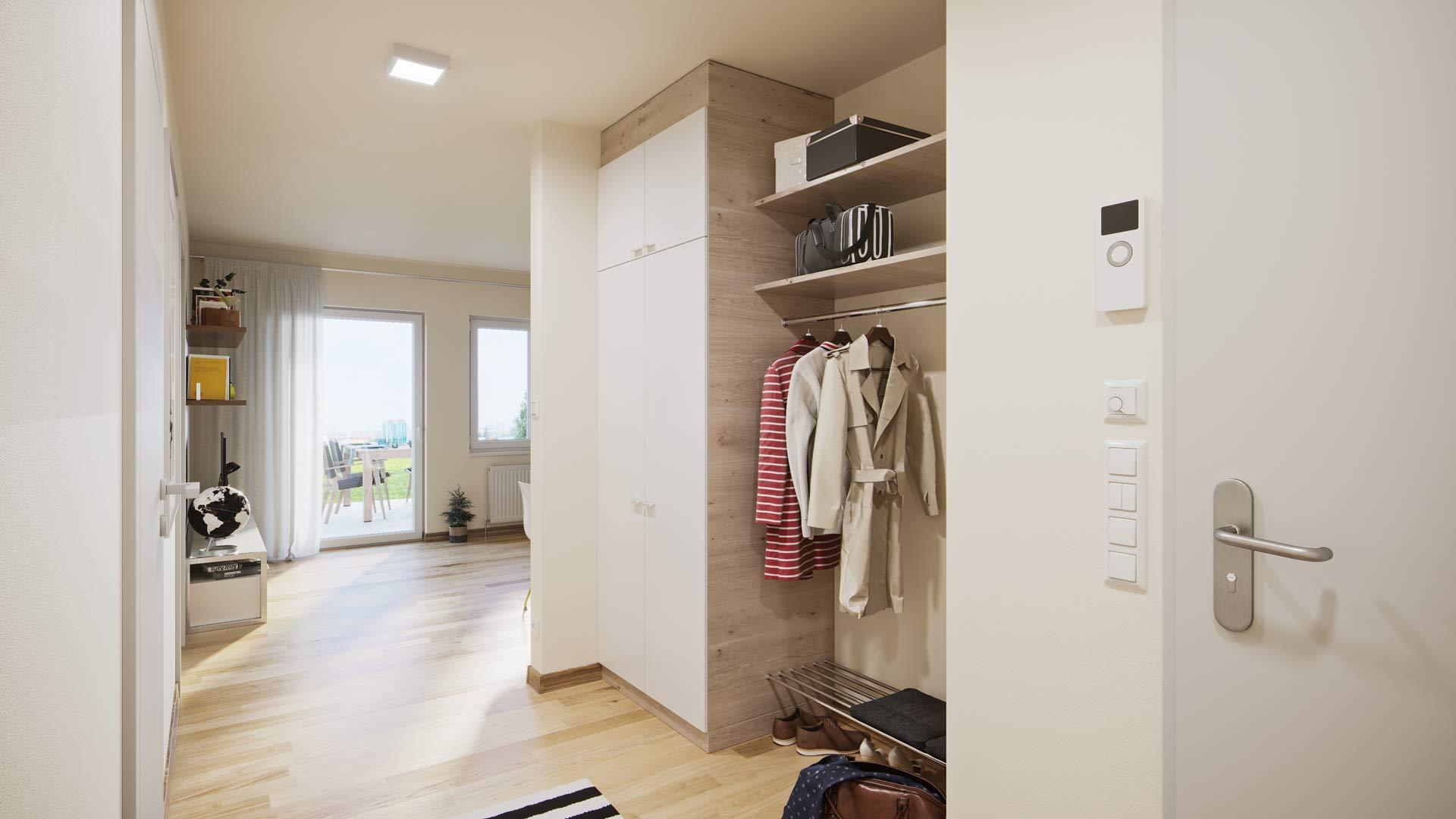 Projekt Villach Beispiel Innenausstattung Vorraum