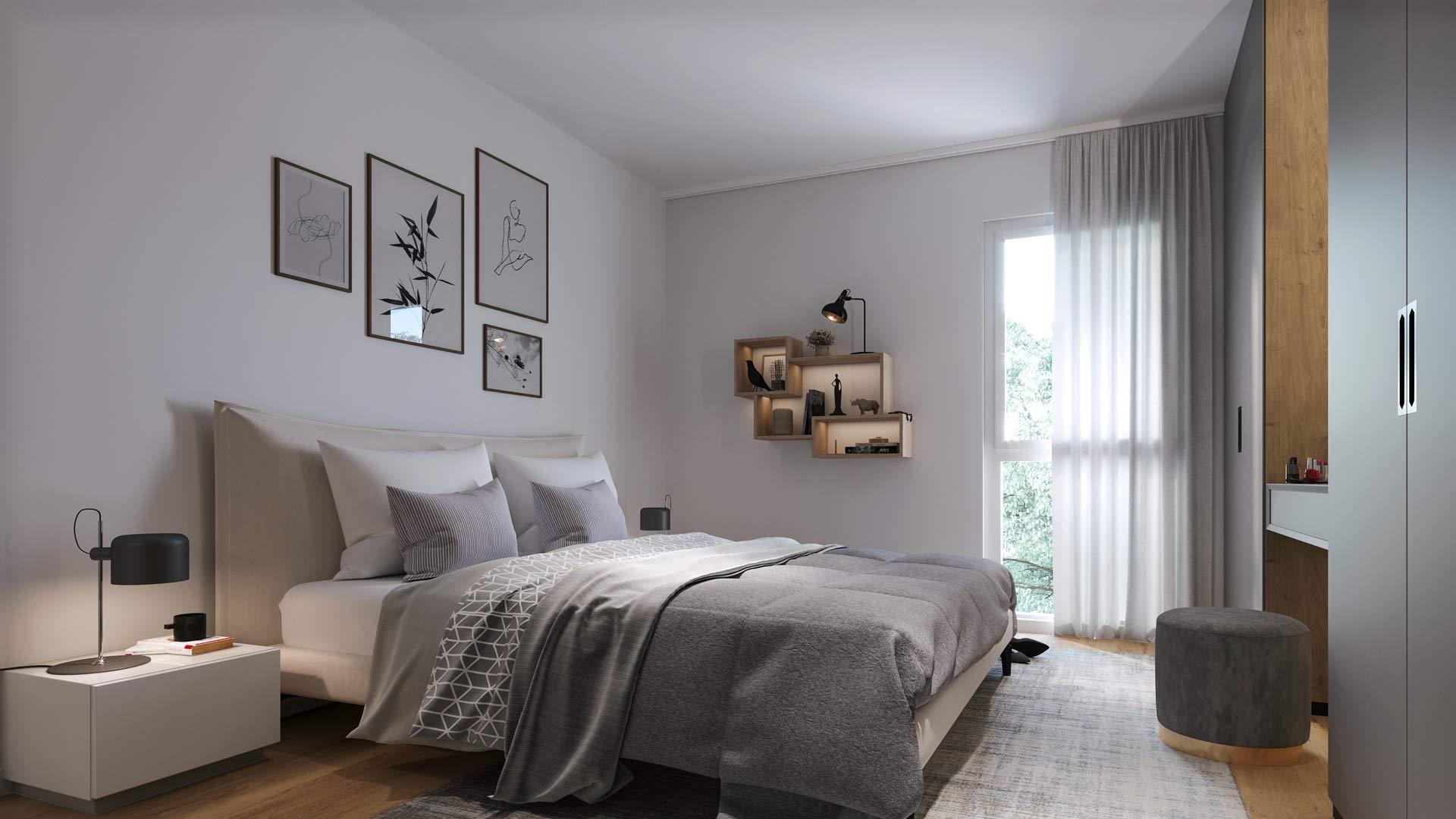 Projekt Villach Beispiel Innenausstattung Schlafzimmer