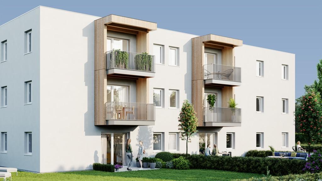 all-in99 Wohngebaeude mit Balkon und Eigengarten
