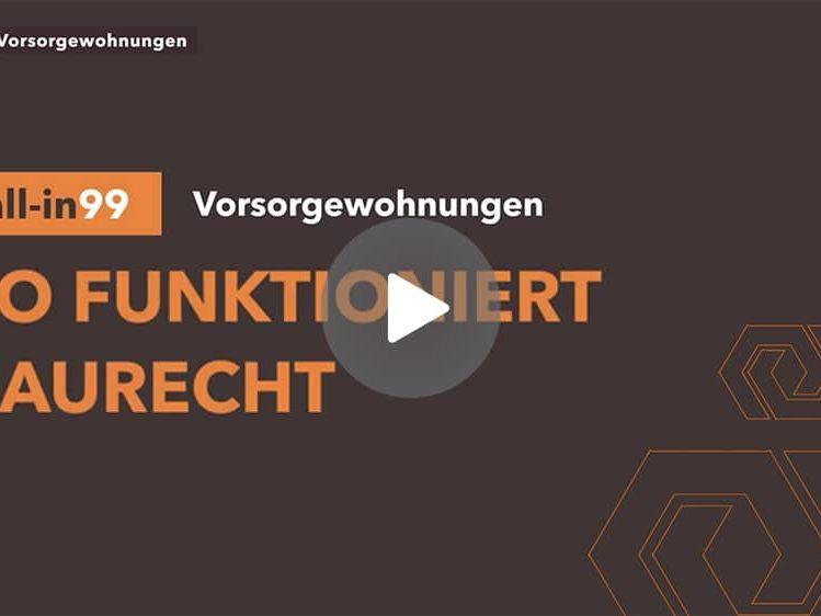 Startscreen des Erklärvideos Baurecht